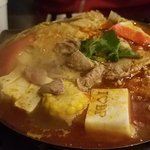 We got a basic hotpot to share with extra noodles and meat