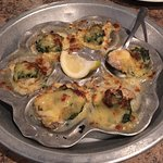 Mikes baked oysters, seafood gumbo, mikes seafood bake, and shrimp bakes are all excellent choic