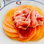 Prosciutto and melon at the grill for lunch- it wasn't on the menu but they made it for me anywa