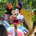 Minnie on a float for the daily parade