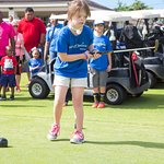 Kailua wish kid Ella practicing her put