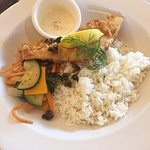 Pan Crusted Fish with Rice Pilaf