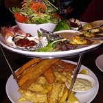 Seafood platter for 2