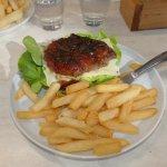 Open steak sandwich for lunch
