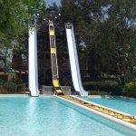 Toboggan style water ride