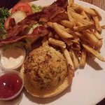 Crabcake sandwich, with bacon!