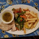 Grilled Swordfish with a Lemon & Herb Sauce