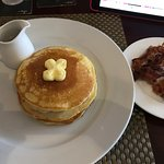 Pancakes and crispy bacon!