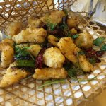 Bamboo Fried Flounder Fish