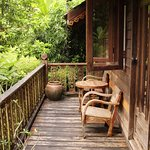 The veranda of our cabin...
