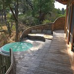 Outside deck and plunge pool