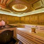 Finnische Sauna im Wellnessbereich des Hotel Auenhof