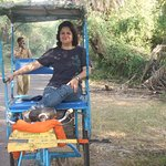 Paddle Rickshaw in National Park
