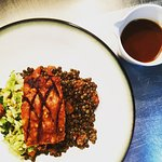 Pork Belly, puy lentils, plum tomatoes, cabbage & walnuts