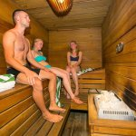 Our guest enjoying in the sauna!