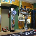 We have a licensed bar in the restaurant open to guests and public, with our own local lager.
