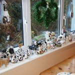 some of our cows ! breakfast room windowsill