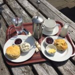 Taste of the Dales: freshly baked scones, Italian coffee, local cream, local butter.