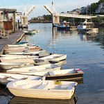 Perkins Cove and our dinghy
