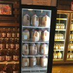 Frozen jugs of cider at Apple Barn General Store