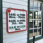 Hours of Operation at Apple Barn General Store
