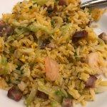 Tasty (but a bit salty) fried rice