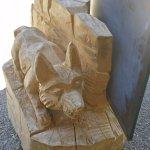 Sculpture à l'entrée