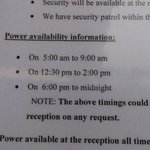 power availability hours