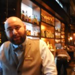 "Nicholas, our ""Office: NYC"" bartender, quite the ""drinks-master"""