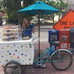 Our cookie cart, seasonally at State St and Elm St