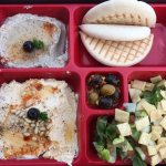 Mezzeh Bento-- OKish- with Muttabel, Hummus, Fattoush.