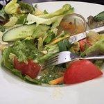 Der Rest des Salats