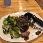 my filet with brussel sprouts and mushrooms
