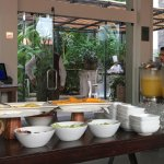 View over to the breakfast chef