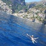 Swimming Off The Coast Of Positano