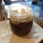 Vegan Chocolate Pudding (served with vanilla bean-coconut cream on top)