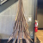 Jim Beam staves christmas tree. I think I like this smell better than the pine...