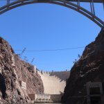 Hoover Dam from the River Raft
