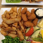 Scampi and chips at Restaurant at Wasdale Head Inn