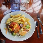 Vegetarian option - salad served with french fries
