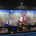 The pretty mural behind the Bar