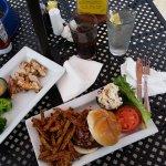 veggie burger, sides, chicken breast..