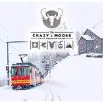 Le restaurant Crazy.Moose, facilement accessible par le train Villars-Bretaye, arrêt Bouquetins