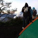 Camp near Mount Bromo