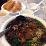 Beef noodle bread sticks and soy curd