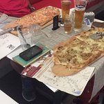 Pizza salmone et champignons