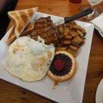 Brunch, steak and eggs
