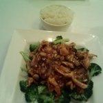 Szechuan Chicken with rice