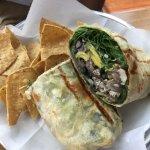 Ahi Tuna and shrimp burrito
