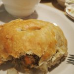 Pasty with gravy and cole slaw